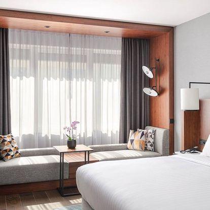 5* Prague Marriott Hotel přímo v centru se snídaní a parkování po dobu pobytu