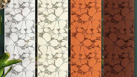 Forbyt Japonská stěna Floris hnědá, 50 x 240 cm