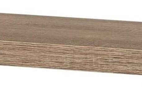 Nástěnná polička dub sonoma, 90 cm