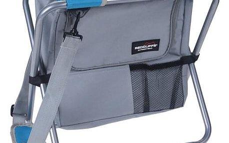 Redcliffs Kempingová skládací stolička s chladicí taškou, modrá