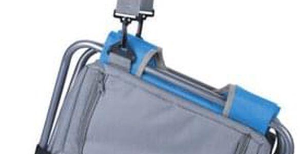 Redcliffs Kempingová skládací stolička s chladicí taškou, modrá2