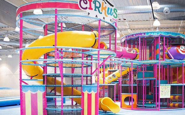 Vstup do dětského Cirkus Parku o rozloze 3000 m²