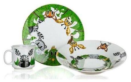 Banquet Dětská jídelní sada Kamarádi z džungle 3 ks