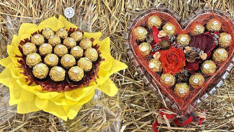 Sladké kytice: s bonbóny Raffaello i Ferrero Rocher