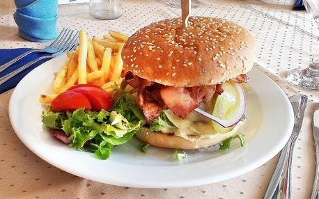 Burger dle výběru a hranolky pro 1 i 2 osoby