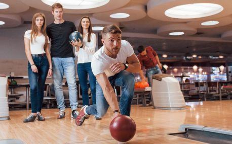 Dráha na bowling na 60 nebo 120 minut až pro 6 hráčů