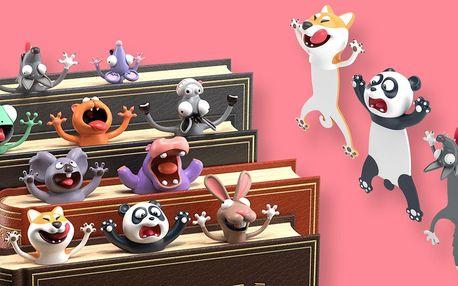 Veselé záložky do knihy: myš, kočka, lišák i hroch