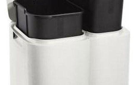 Tontarelli Koš na tříděný odpad DUO 13 + 8 l, bílá
