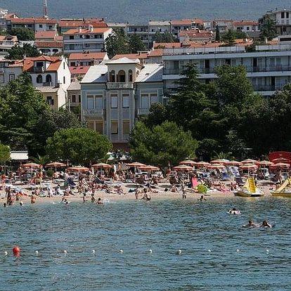 Chorvatsko - Crikvenica na 3-17 dnů, snídaně v ceně