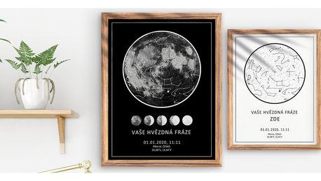 Hvězdná mapa s datem a časem vašeho seznámení