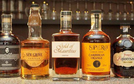 Degustace světových rumů pro 1 nebo 2 osoby