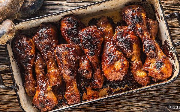 1,5 kg pečených kuřecích paliček pro dvě osoby