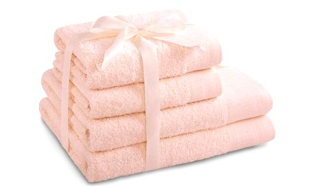 AmeliaHome Sada ručníků a osušek Amari světle růžová, 2 ks 50 x 100 cm, 2 ks 70 x 140 cm