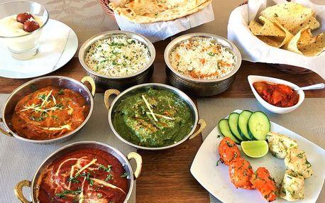 Indické menu pro dva: masové nebo vegetariánské