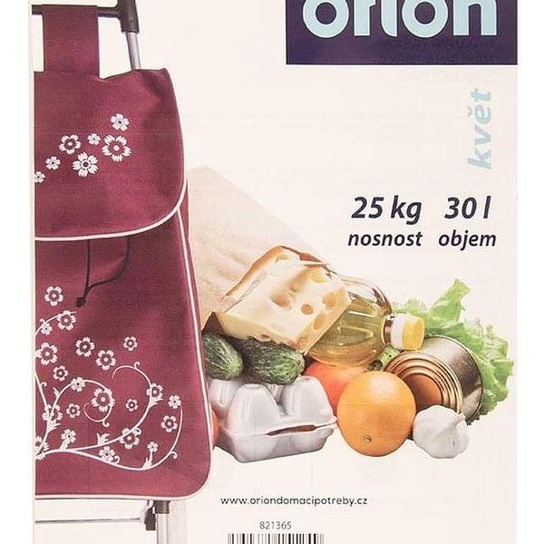 Orion Nákupní taška na kolečkách Květ fialová, 33 x 20 x 53 cm3