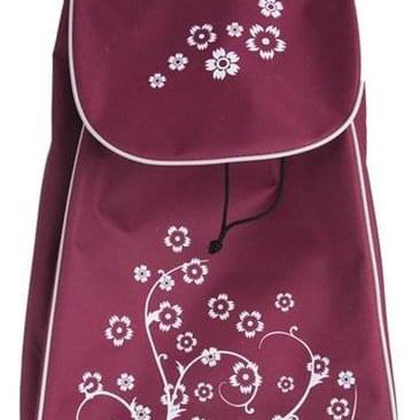 Orion Nákupní taška na kolečkách Květ fialová, 33 x 20 x 53 cm