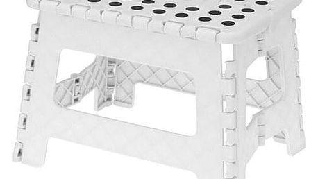 Skládací stolička bílá, 29 x 22 cm