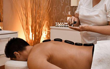 Důkladná hodinová masáž lávovými kameny vámi vybraných tělesných částí (např. záda, šíje, krk a spodní končetiny)