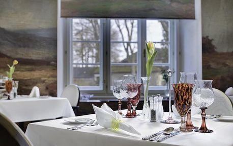 Degustační 6-chodové menu v zámecké restauraci Chateau Herálec