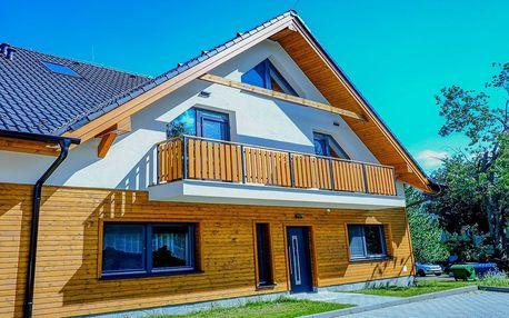 Nově postavená vila s výhledem na Lomnický štít