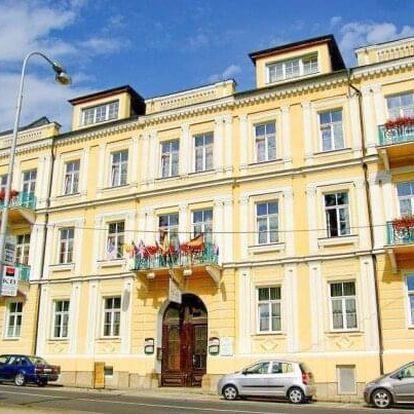 Františkovy Lázně: Hotel Sevilla *** s pivní koupelí, anebo 4 procedurami + neomezené wellness a polopenze