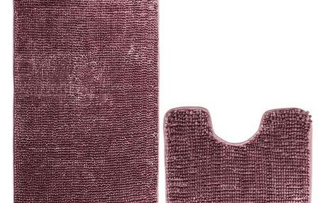 AmeliaHome Sada koupelnových předložek Bati vínová, 2 ks 50 x 80 cm, 40 x 50 cm