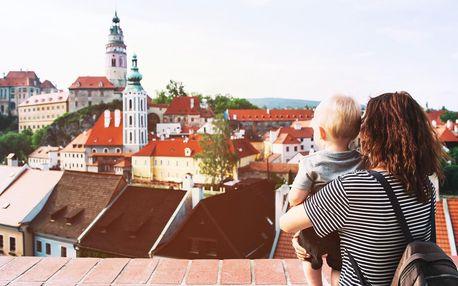 Český Krumlov z pohodlí rodinného apartmánu až pro 8 osob