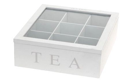 Box na čaj Tea, bílá