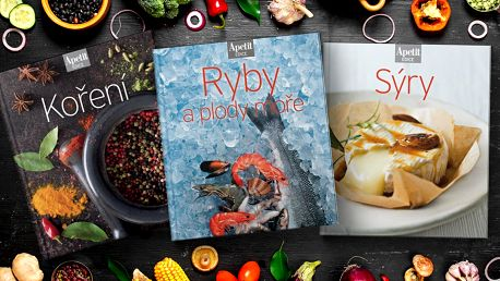 3 kuchařky z edice Apetit: ryby, koření a sýry