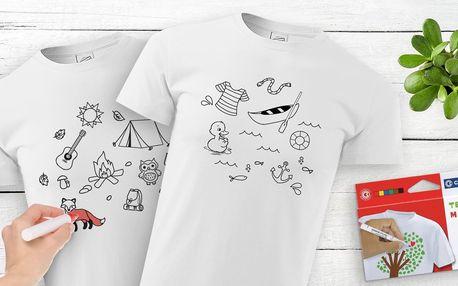 Dětská vybarvovací trička i s fixami: 6 motivů