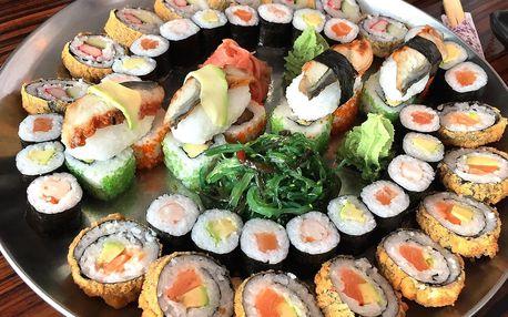 24–52 ks sushi: sety s lososem, úhořem i vege