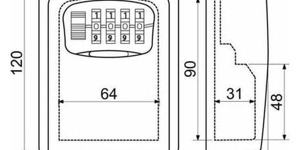 RICHTER CZECH Bezpečnostní schránka na klíče RICHTER KB.G42