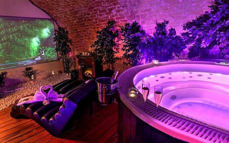 Relaxace v romantickém wellness s vinotékou a filmem