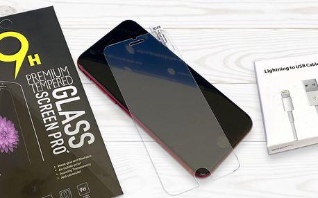Tvrzená skla na iPhony a dobíjecí lightning kabel