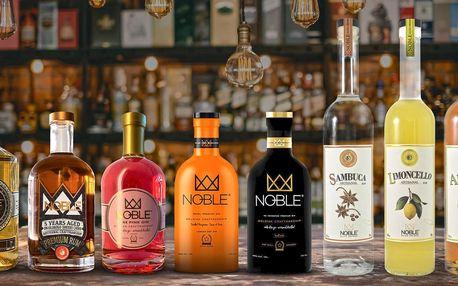 Prémiové belgické likéry, giny, whisky a rumy