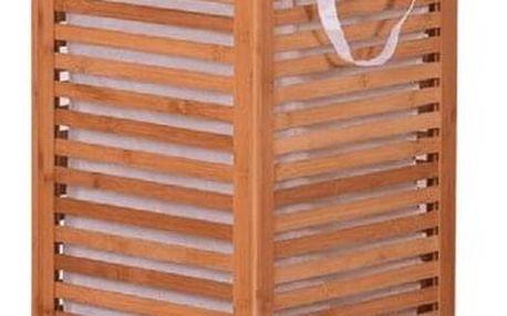 Tempo Kondela Lakovaný bambusový koš na prádlo Basket