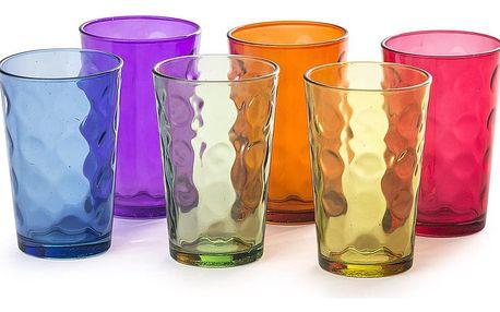 6dílná sada barevných sklenic, 200 ml
