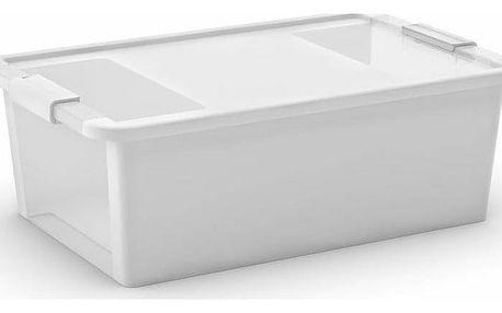 Úložný Bi box M, plastový 26 litrů průhledná/bílá