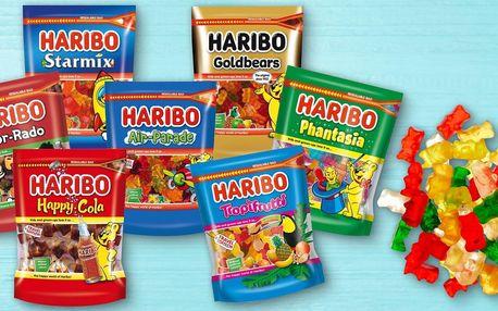 Velká balení Haribo bonbonů: medvídci, coly aj.