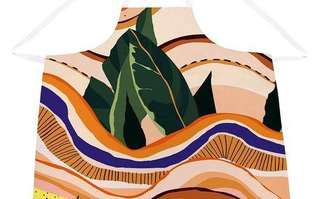 Butter Kings Kuchyňská zástěra Abstract landscape, 84 x 81 cm
