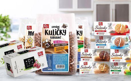 Snídaňové cereálie a sušenky: lupínky i polštářky