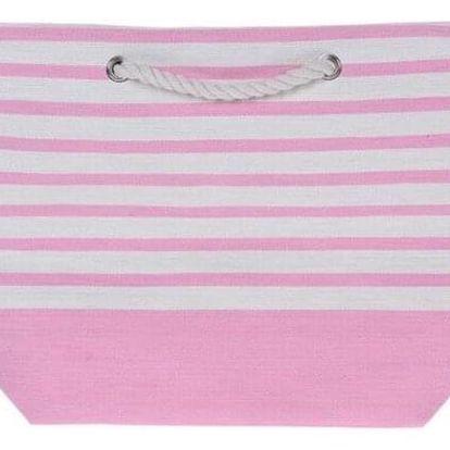 Plážová taška Stripes 52 x 38 cm, růžová