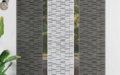 Forbyt Japonská stěna Atlas šedá, 50 x 240 cm