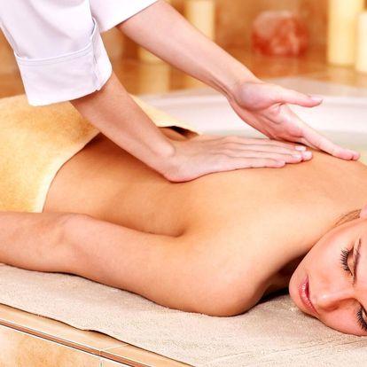Hodinová masáž a 90 min. ve veřejném wellness pro 1