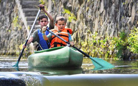 Výlet na Ohři: na kánoi tam, na koloběžce zpět