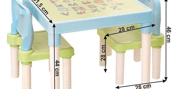 Dětská sasa stolečku a židliček Balto 3 ks, modrá2