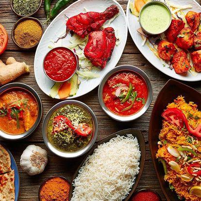 Tříchodové indické menu pro 1 nebo 2 osoby