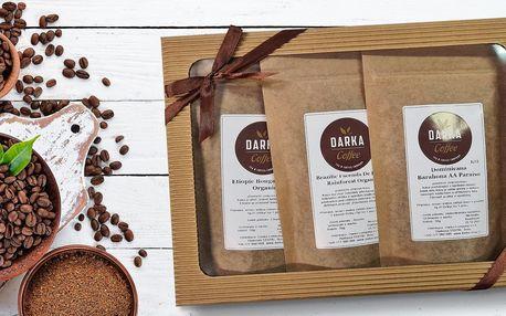 Dárkové degustační balíčky výběrové zrnkové kávy