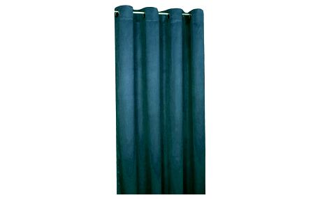 Forbyt Zatemňovací závěs Suedine námořnická modrá, 140 x 240 cm, sada 2 ks