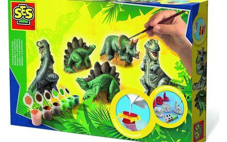 SES Sádrový trojkomplet Dinosauři